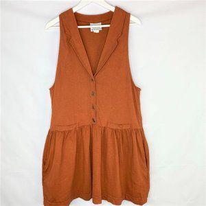 Vintage Prairie Cotton Drop Waist Collared Dress
